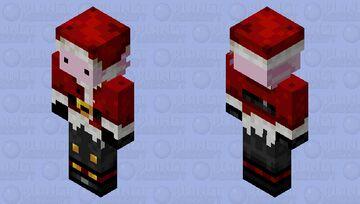 Santa as an Axolotl Minecraft Skin
