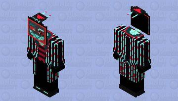 Vox the TV Demon V№2 Minecraft Skin