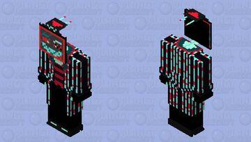 Vox the TV Demon V№3 Minecraft Skin