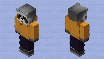 Raccoon SunSet Chill Yellow Minecraft Skin
