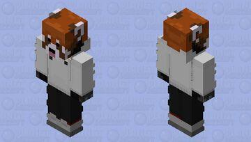 The RedPanda White Milk Minecraft Skin