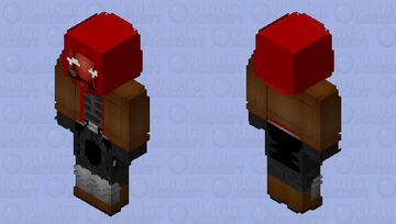 Red Hood: Titans Season 3 Minecraft Skin