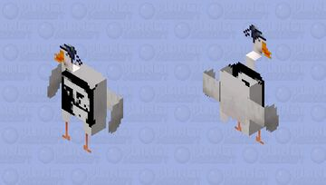GooOse Trollface VOID (Goose collection n°3) Minecraft Skin