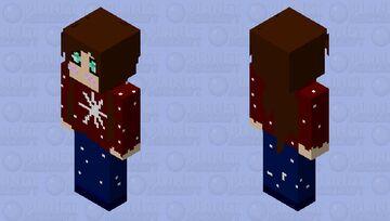 Christmas Jumper Girl Minecraft Skin
