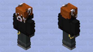 The RedPanda Blackout Minecraft Skin