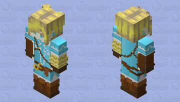 High resolution Link botw Minecraft Skin
