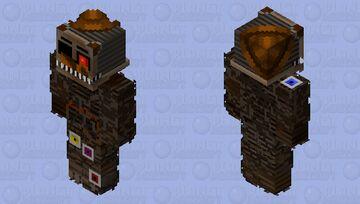 HD Molten Freddy Minecraft Skin