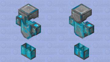 s͎t͎r͎i͎p͎e͎d͎ ͎d͎i͎a͎m͎o͎n͎d͎ ͎a͎r͎m͎o͎r͎ Minecraft Skin