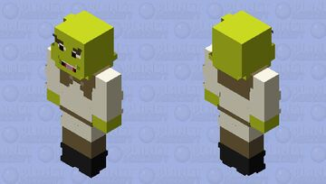 WHAT ARE YOU DOING IN MY SWAMP - shrek Minecraft Skin