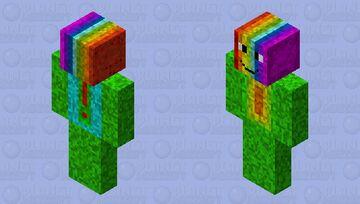 Rainbow Summer Guy Minecraft Skin