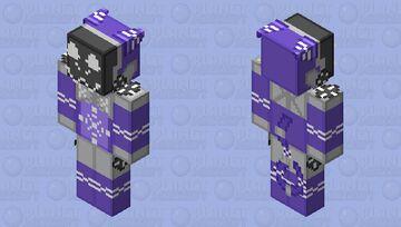 Purple Protogen Minecraft Skin