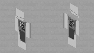 QuikTrip Tiktok gas station drink black and white Minecraft Skin