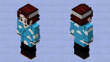 Tanjiro seleção final ferido Minecraft Skin