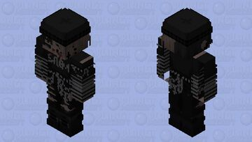 goth lol lol Minecraft Skin
