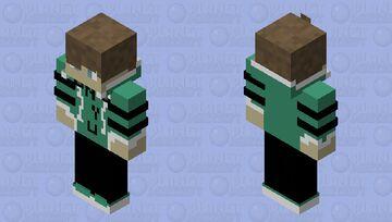 Devin Hoodie (NYU)(Muted Teal)(Boy) Minecraft Skin