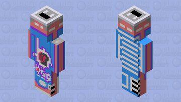 Bang Radical Skadattle can art pixel art color Minecraft Skin