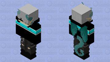 cool ice dragon (Or demon, idc) ~Noki~ (Wings not translucent) Minecraft Skin