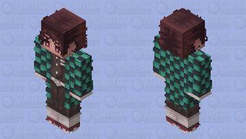 Tanjiro esquadra de exterminadores Minecraft Skin