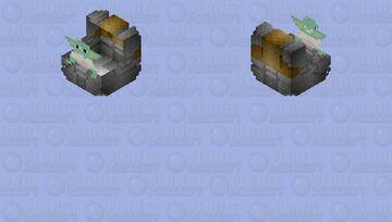 """The Child"" Grogu (Silver Hover Pram): The Mandolorian Season 1 Minecraft Skin"