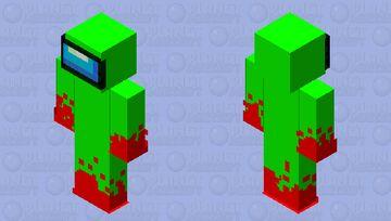 lime among us impostor Minecraft Skin