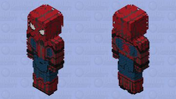 Spider-Man (Webbed): Captain America: Civil War Minecraft Skin