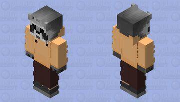 Raccoon Chill Yellow Minecraft Skin