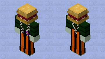 Hungry burger (The terrifying Meat Burger) Minecraft Skin
