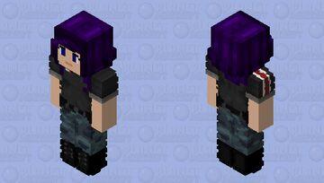 Commander Violet Shepard Minecraft Skin