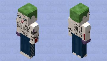 The Joker (Unhinged): Suicide Squad Minecraft Skin