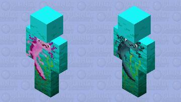 We have axolotls!! (bedrock) Minecraft Skin