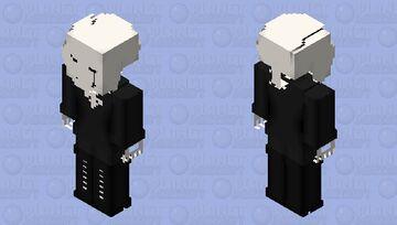 LustXSwapFell Gaster Minecraft Skin