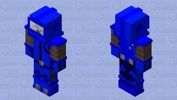 Blue Imposter Minecraft Skin
