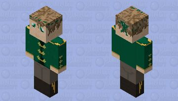 Emerald Green Riding Outfit w/ Male Model Minecraft Skin