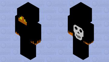 Pumpkin Reaper Minecraft Skin
