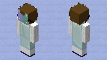 Blue purple rabbit mask boy Minecraft Skin