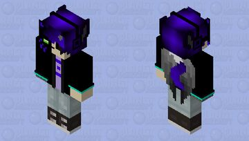 Haku half nightmare form~~ Minecraft Skin