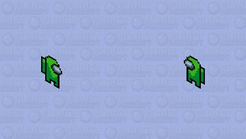 Among us (lime green) Minecraft Skin