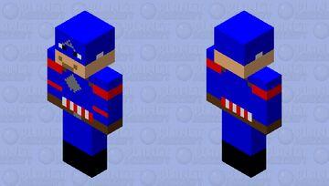 Captain America AKA Steve Rogers Minecraft Skin