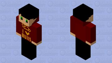 This kid loves his bulls so he bought a bull hoodie Minecraft Skin