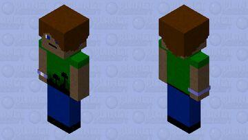 Boy with forest shirt Minecraft Skin
