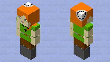 stylized alex Minecraft Skin