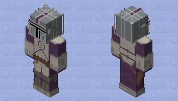Purple Mandalorian ( Mix of Elite and Classic style armour ) Minecraft Skin