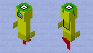 Yellow among us(ghost alien) Minecraft Skin