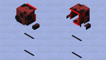 Red Creeper Banner Cape Minecraft Skin