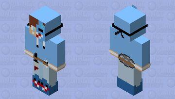 Shark dream skin with disc on back Minecraft Skin