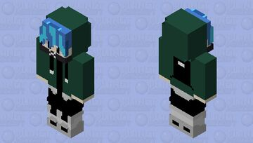 ME AS SOFT PICO( PART OF THE GREEN) Minecraft Skin