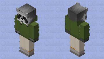 Raccoon Green Tea Minecraft Skin