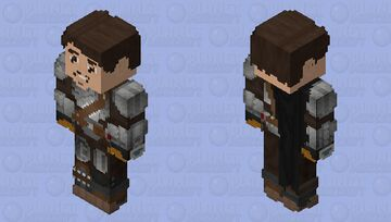 """The Mandalorian"" Din Djarin (Helmet Off): The Mandalorian Season 2 Minecraft Skin"