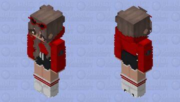 Baddie Red Girl skin~🖤💔 Minecraft Skin