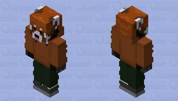The RedPanda The Environment Brown & Green Minecraft Skin